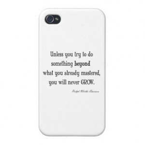 Vintage Emerson Inspirational Growth Mastery Quote iPhone 4/4S Case