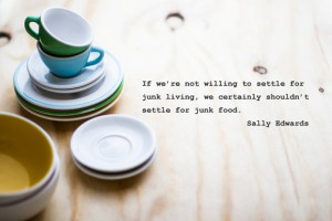 Cute food quote on canvas