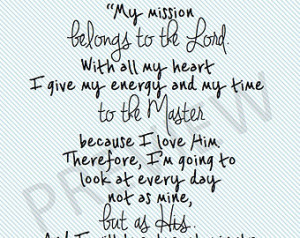 Missionary Quote LDS Mormon Ballard Mission Belongs to Lord God ...