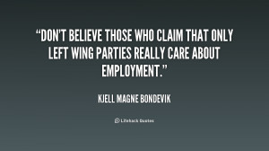 Don't believe those who claim that only left wing parties really care ...