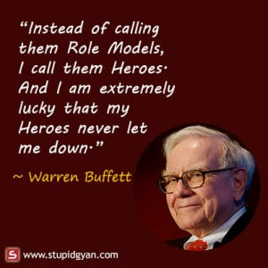 Warren Buffett Quote on Role Models | Inspirational Quote