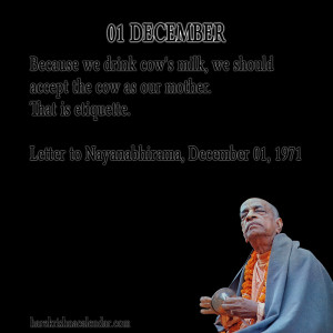 Srila Prabhupada Quotes For Month December 01