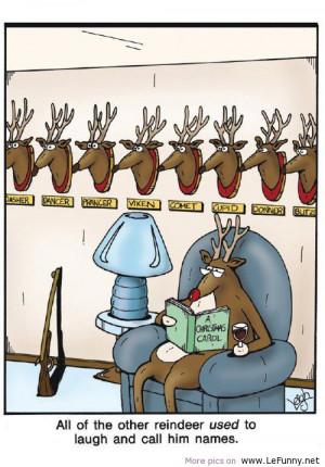 Funny reindeer LeFunny.net