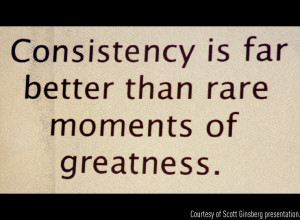 """... and you see the title of this post; """"Being Consistent"""