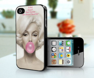 Marilyn Monroe Bubble Gum Quote Vintage iPhone by CaseRattleNRoll, $15 ...