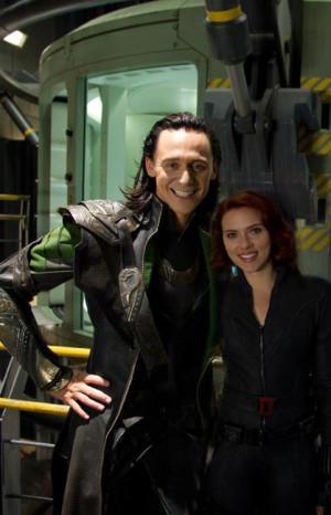 tom hiddleston The Avengers loki black widow scarlett johansson