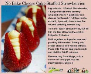 No bake cheesecake stuffed strawberries