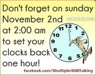 ... 49 daylight savings ends on sunday quotes quote fall back clock change