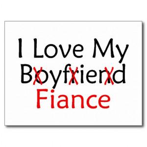 Love My Fiance Post Card