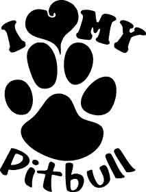 pitbull pride | LHC Pitbull Pride - I Love my Pitbull White Window ...