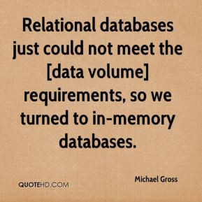 Michael Gross - Relational databases just could not meet the [data ...