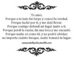 Te Amo.