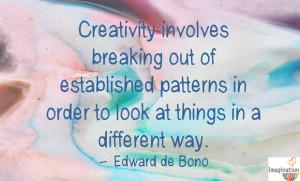 Creativity de Bono quote 5 Steps to Raising a Creative Child