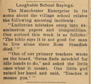 Laughable School Sayings