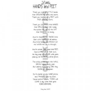 Little Hands and Feet Vellum Quotes Kitchen & Dining