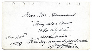 William Howard Taft Signed Quote as Chief Justice