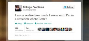 funny twitter quotes college