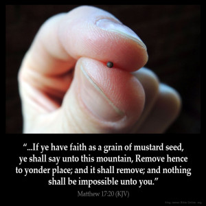 Matthew 17:20 Inspirational Image