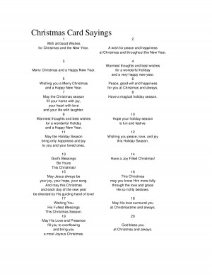 Card Sayings Quotes Business ~ Religious Christmas Card Sayings ...