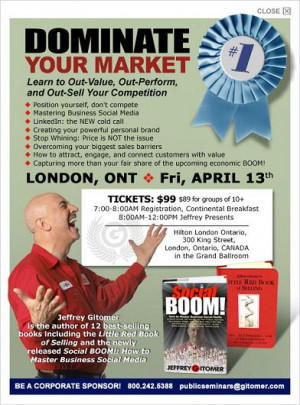 jeffrey gitomer seminar in london and toronto ontario jeffrey gitomer ...