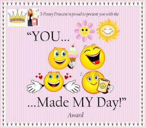 ... you made my day award thank you for making my day not once but twice