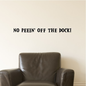no peein off the dock beach quotes wall words beach decals lettering