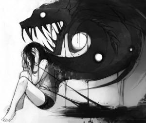 Her Mind is getting her like monster and she is Screaming form inside ...