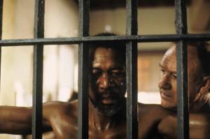Still of Morgan Freeman and Gene Hackman in Unforgiven (1992)