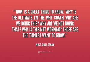 Great Quotes By Coaches ~ What Makes a Good Coach?