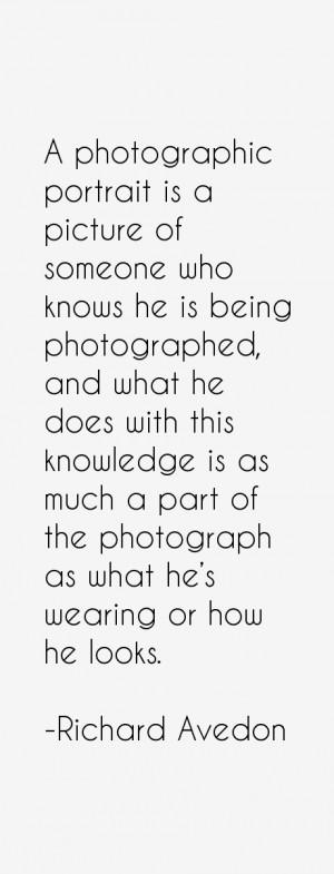 photographic portrait is a picture of someone who knows he is being