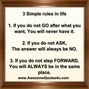 Rules Of Life Quotes 3 simple rules in life