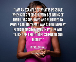 quote Michelle Obama i am an example of what is 28015 png
