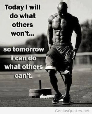Build muscle quote motivational picture