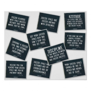 Soccer Quotes 10 Poster Collage in Denim on White