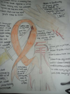 Self harm awareness drawings