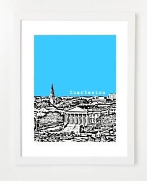 Charleston South Carolina Skyline Art Print and Poster | By BirdAve ...