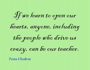 Quote of the Day : Pema Chodron