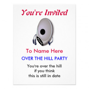 cd_player_over_the_hill_birthday_party_invitation ...