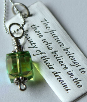 Sterling Silver Graduation Quote Pendant. This pendant features a ...