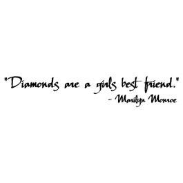 Diamonds Are A Girls Best Friend Marilyn Monroe Quote Wall Words Vinyl ...