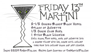 FRIDAY THE 13TH BLACK CAT LICORICE MARTINI - a Candy Martini Recipe on ...