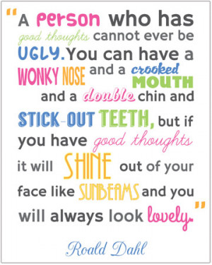 Inspirational Quotation Poster: Roald Dahl 3