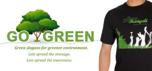 Slogan Go Green White Recycle T Picture