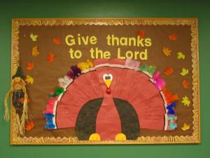 Thanksgiving bulletin board idea