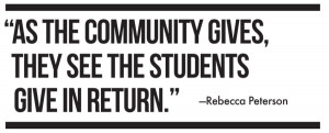 Giving Back To The Community Quotes as the community gives,