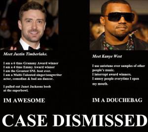 Justin: I'm a 6 times Grammy Award winner! Kanye: I use autotune ...