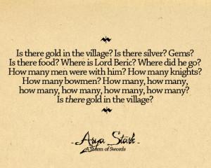 Arya Stark Arya Quotes