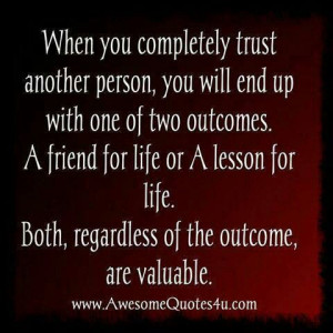 Trusting other people