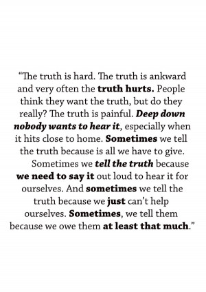 ... about lies is a zine based in a quote in the TV series Grey's Anatomy