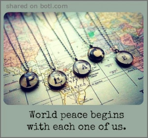 Let there be peace on earth, and let it begin with me ♪♫